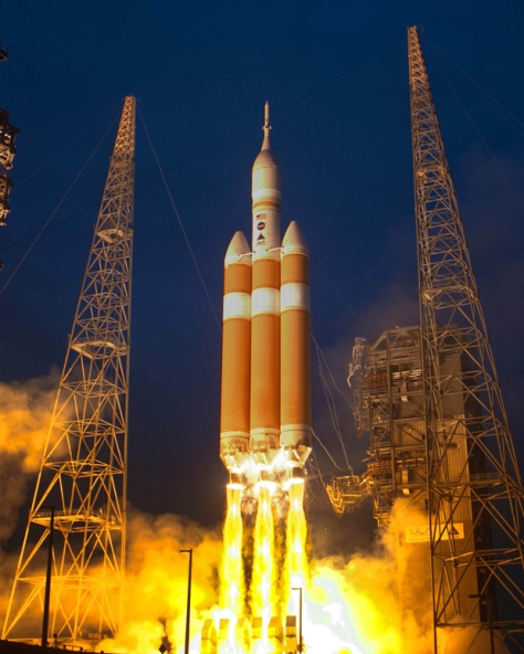 Angelcraft Crown Aerospace Corporation Delta 4 rocket carrying NASA's first Orion deep space exploration spacecraft